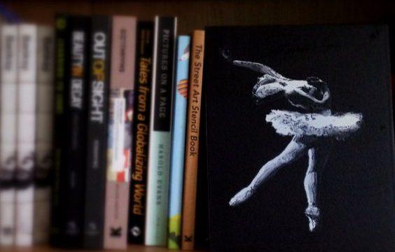 Ballerina, a stencil work by Emanuele Renton Fortunati