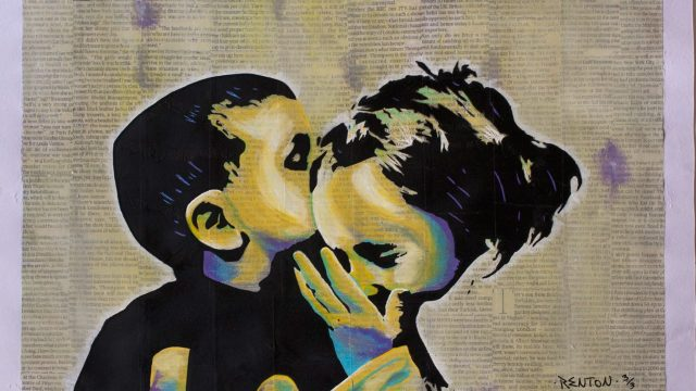 True Love #1, a stencil work by Emanuele Renton Fortunati