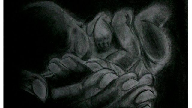Welcome, a charcoal work by Emanuele Renton Fortunati